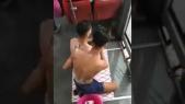 douche dans un bus