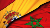 Drapeaux Maroc Espagne