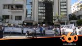 cover vidéo:Le360.ma •Sit-in des agents et courtiers d'assurance membres de l'Umac