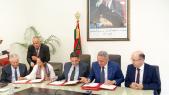 Lors de la signature du mémorandum d'entente Etat-Gimas