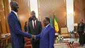 Photo et vidéo. Sénégal: Tacko Fall, le basketteur le plus élancé de la NBA, en visite chez Macky Sall