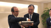 Anas Doukkali et son homologue de Chine