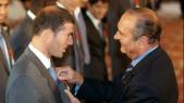 Zinédine Zidane et Jacques Chirac
