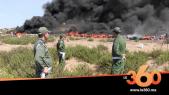 cover:  شاهد انفجارات مخدر غاز الضحك اثناء عملية حرق أطنان من الحشيش