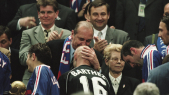 Chirac et les vainqueurs du Mondial 1998
