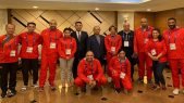 Athlètes marocains avec Ahizoune à Doha