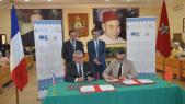 Cérémonie de signature de l'accord de coopération entre le conseil provincial de la région de Tiznit et la commauté d'agglomération d'Issoire.