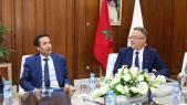 De g à d: Mohoamed Benchaaboun, ministre des Finances, et Fouzi Lekjaa, directeur du budget