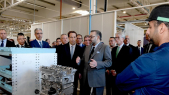 Inauguration usine PSA