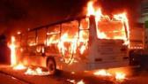 bus en feu/ foot