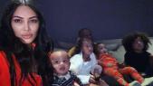 Kim kardashian confinée avec ses enfants