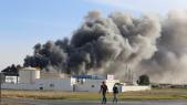 Une vue de l'incendie ravageant l'usine de câblage automobile à Tanger, ce samedi 30 mai 2020