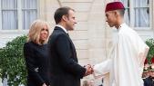 Moulay El Hassan et Emmanuel et Brigitte Macron