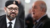 Le roi Mohammed VI et le président algérien Abdelmadjid Tebboune