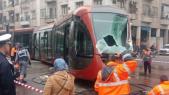 Accident tramway Casablanca