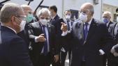 Le président algérien et des membres de son entourage masqués pour se protéger du coronavirus.