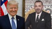 Le roi Mohammed VI et le président américain Donald Trump