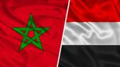 Drapeaux Yémen et Maroc