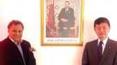 De g à d: Mehdi Qotbi, président de la Fondation nationale des musées, et Shinozuka Takashi, ambassadeur du Japon au Maroc