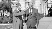 Le Roi Mohammed V en compagnie de Walt Disney