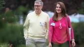 Le milliardaire Bill Gates, cofondateur de Microsoft, et sa femme Melinda Gates
