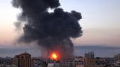 Gaza - Frappe aérienne israélienne - Fumée -