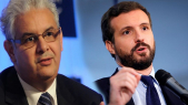 Pablo Casado, président du Parti populaire espagnol, et Nizar Baraka, secrétaire général de l'Istiqlal
