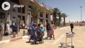 Cover Vidéo -  بعد فتح الحدود مطار العيون يستقبل أول طائرة قادمة من جزر الكناري