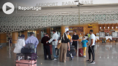 Cover اجواء الفرح في مطار الرباط سلا بعد فتح الحدود