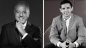 De g à d: Hamid Bentahar et Hicham Mhammedi Alaoui