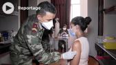 Vaccination - Covid-19 - Equipes médicales Forces Armées Royales - campus universitaire Agadir