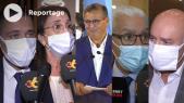 cover- élections 2021 - Aziz Akhannouch et les membres du RNI - conférence de presse