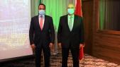 De g à d: Ato Ahmed Shide, ministre éthiopien des Finances et Mostafa Terran PDG du groupe OCP.