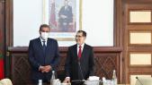 Lors de la passation de pouvoirs entre Saad Dine El Otmani et Aziz Akhannouch