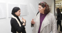 Safaa Erruas,artiste peintr et Nawal Slaoui,Commissaire d'exposition et productrice d'art.
