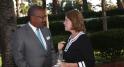 Dwight L. Bush, ambassadeur des Etats-Unis, à Rabat. et Mme Andrea Appell.
