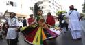 Spectacles de Rues  Danse du Paon de l'Inde. Rabat 30 mai 2015