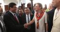 Mustapha Bakkoury et Leila Benhima Cherif,présidente l'heure joyeuse