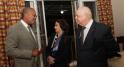 Dwight Bush, l'ambassadeur des Etats-Unis au Maroc et le couple Chraibi des editions marsam