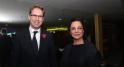 Tobias Ellwood,Secrétaire d'Etat britannique chargé de la région MENA et Saïda Karim Lamrani, vice-présidente déléguée du groupe des sociétés Holdings Safari-Sofipar-Cofimar