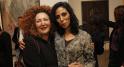 Bouthaina Azami et l'artiste Majdia KHattari