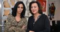 l'artiste Majida Khattari et sa galeriste Aicha Amor