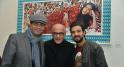 Noureddine Khmari, l'artiste Mohamed El Baz et l'acteur Omar Lotfi