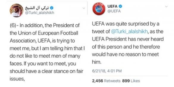 Turki Al Sheikh Vs UEFA