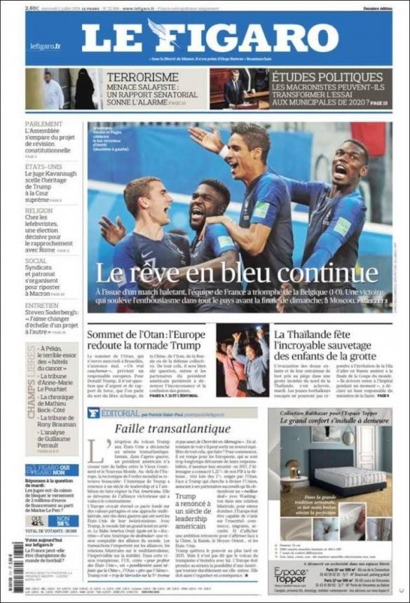 Le Figaro: le rêve en bleu continue