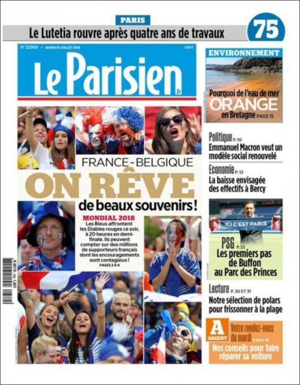 Une de journal - Le Parisien