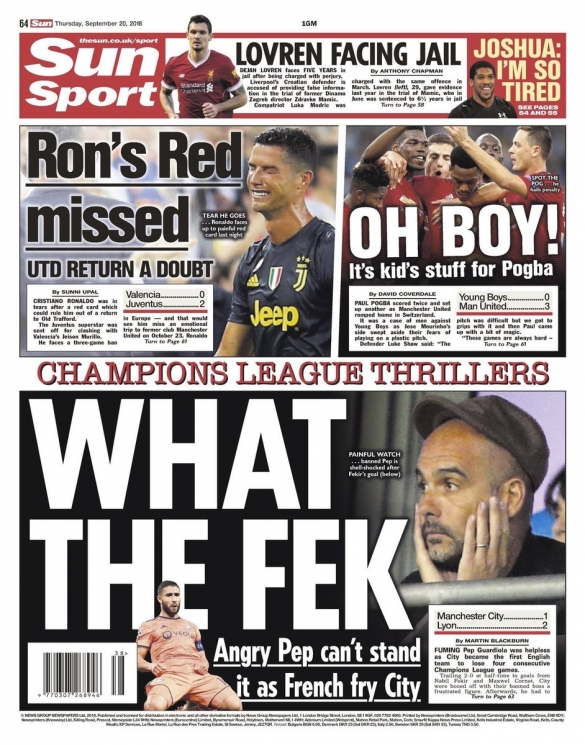 THE SUN PEP GUARDIOLA
