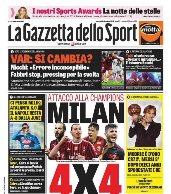 La Gazetta dello Sport Modric