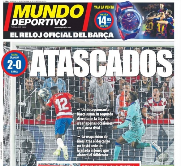 Barça Grenade Mundo Deportivo