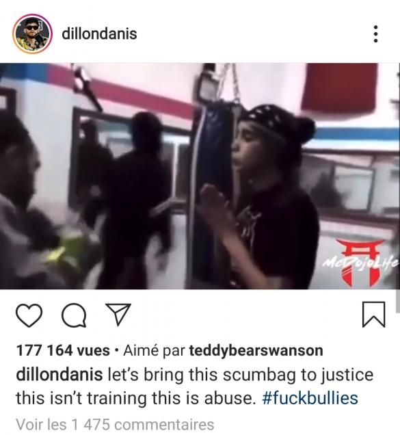Dillon Danis réaction